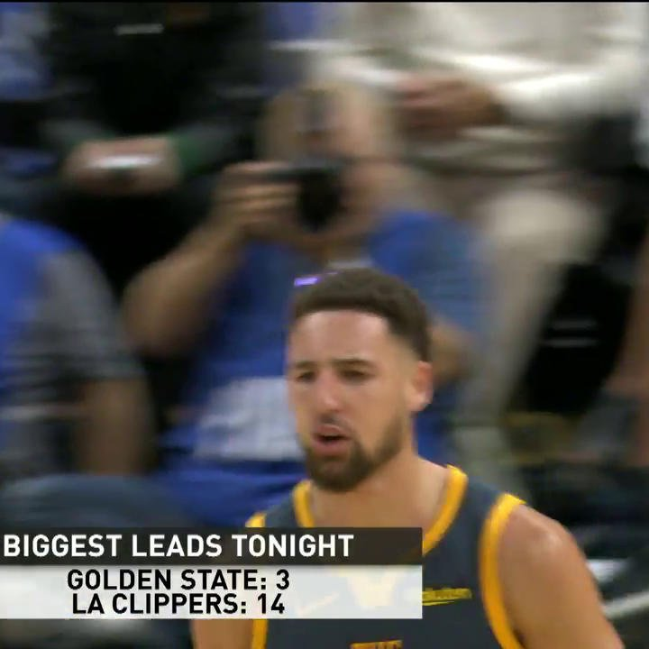 Stop that, Klay. 💦 #DubNation | #PlayersOnly