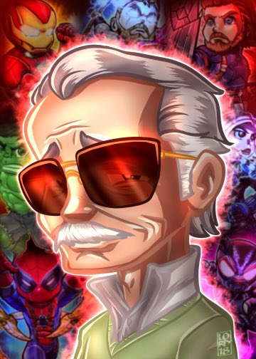 """""""The Man""""  @TheRealStanLee #StanLee #lordmesaart #CLIPSTUDIOPAINT @clip_celsys<br>http://pic.twitter.com/kkX2tzTyQy"""