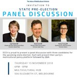 Image for the Tweet beginning: Join us! ECCV State Pre-Election