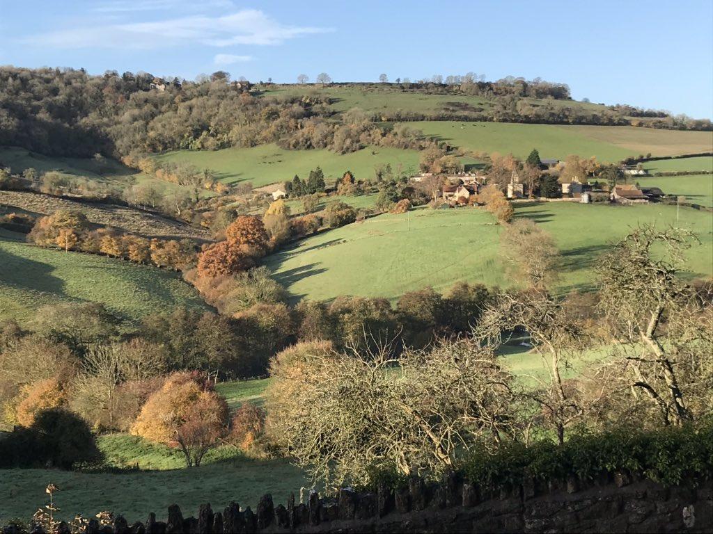 "Autumn view Wooley Village, from Upper Swainswick. Wooley a WW1 ""thankful village"". @SwainswickExpl @Robert_Craven https://t.co/lYfpSbiJ1r"