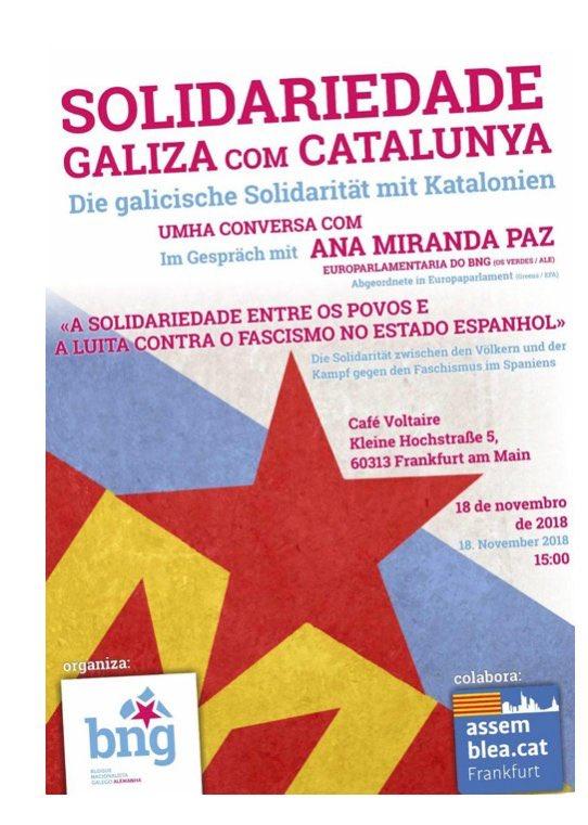 Gràcies Galiza, Gràcies @anamirandapaz Per la frateniatat entre els pobles!
