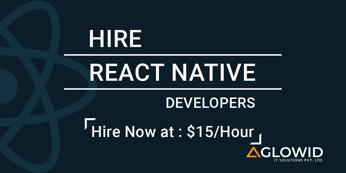 Hire expert remote #ReactNativeDeveloper from Aglowid  https:// buff.ly/2ybsqhK      #Reactnative<br>http://pic.twitter.com/pg4pSlBiLr