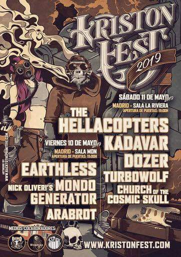 KRISTONFEST (10+11 Mayo, 2019) The Hellacopters, Earthless, Kadavar, Dozer, Nick Oliveri's Mondo Generator, Turbowolf, Church Of The Cosmic Skull y Arabrot - Página 3 Dr3kcZQWsAYbVAZ