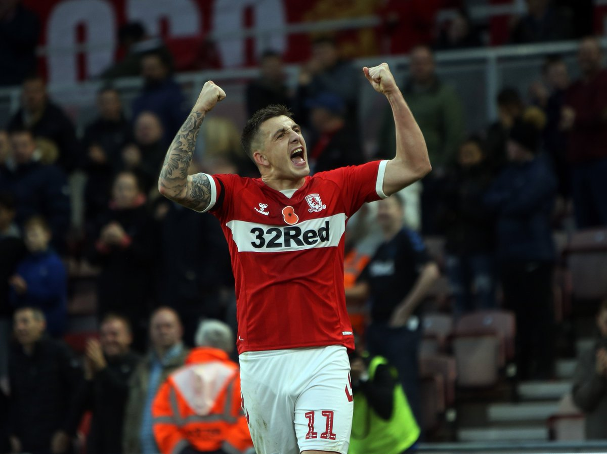 """I know for a fact that when my performances are good, the goals will come"""" ⚽️⚽️ Saturdays matchwinner @JordanHugill tells us his striking sharpness is returning - and hes ready to fire #Boro up the table 📹➡️ bit.ly/2zNWiS6 #UTB"""