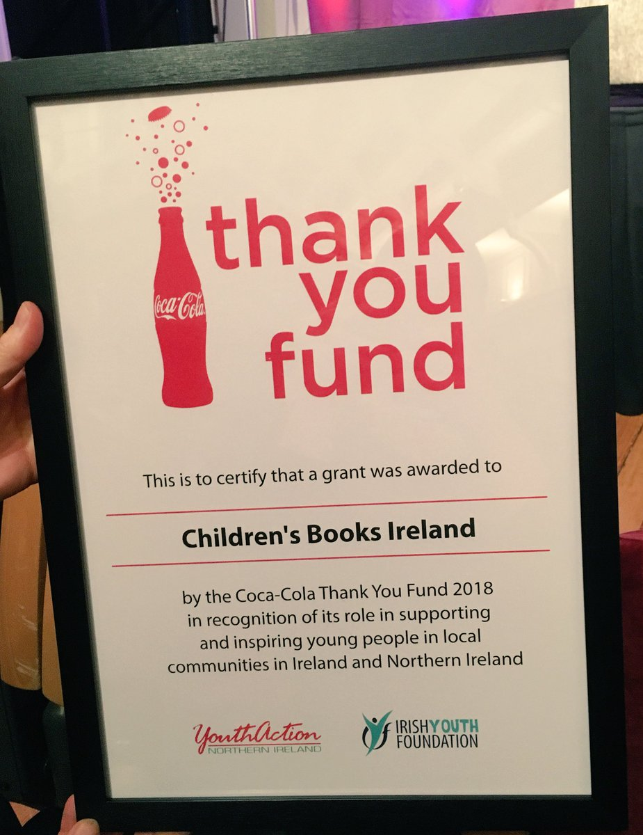 Brilliant news! We've been awarded €10,000 from the @cocacolaie #ThankYouFund to bring libraries and Patrons of reading to teenagers in Family Hubs in collaboration with @KidsBooksIrel #Zeminar Exciting times ahead📚📚📚