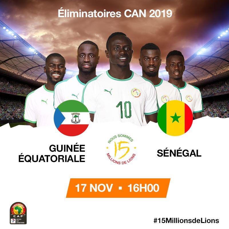Dr4 ewmWwAEaCvJ - Guinée Équatoriale - Sénégal Streaming sur quelle chaîne ?