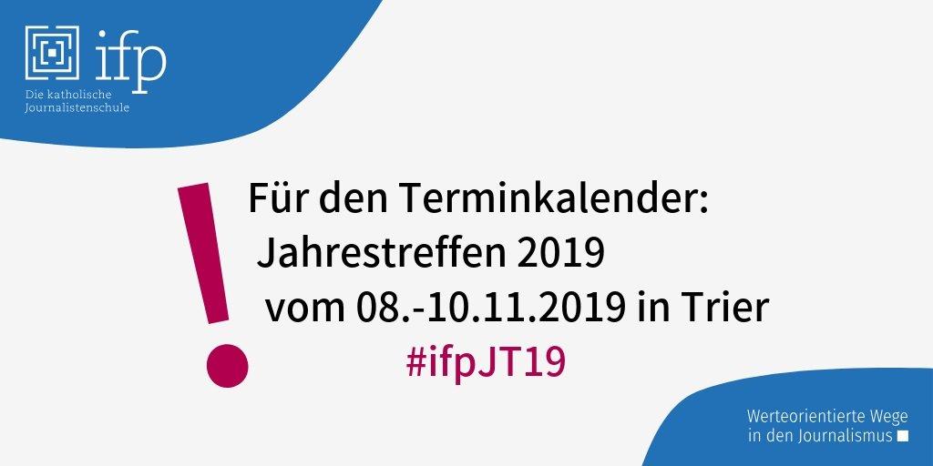 RT @ifpmuenchen: Für den Terminkalender #ifpJT19 #ifp50Rom https://t.co/sMRLfsS1Je