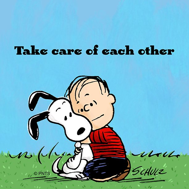 """Take Care Of Each Other: PEANUTS On Twitter: """"Take Care Of Each Other.…"""