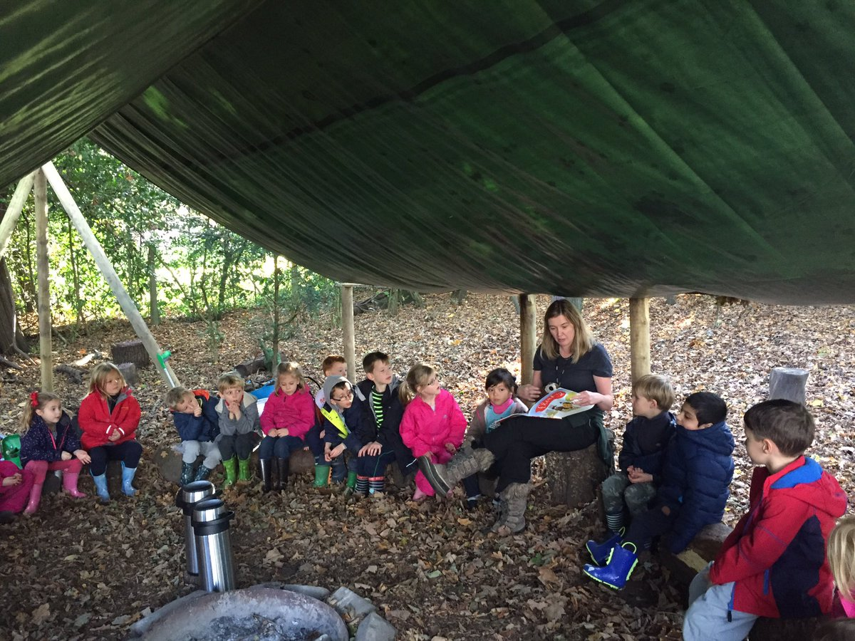 test Twitter Media - @GorseyBank Reading in the woods.  Our story is, 'Fleabag,' by Helen Stephens. #gorseybookclub #gorseyenglish #gorseyfs https://t.co/YAQHWwNyW1
