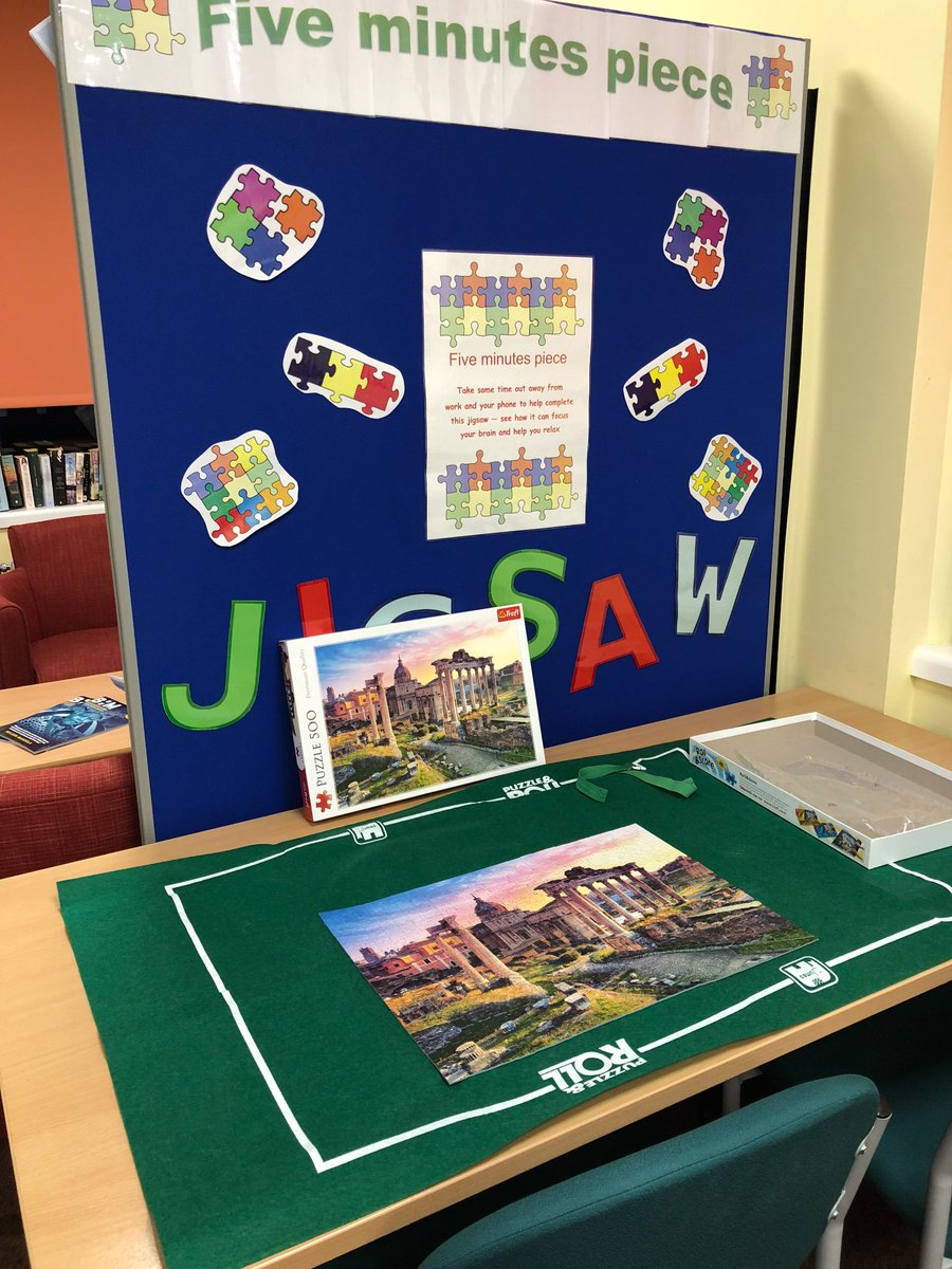 Another jigsaw completed in Wansbeck library. Will have a new jigsaw tomorrow - do pop in &amp; take 5 mins break to refresh your mind. #health&amp;wellbeing #fiveminutespiece<br>http://pic.twitter.com/MboT9EFU02