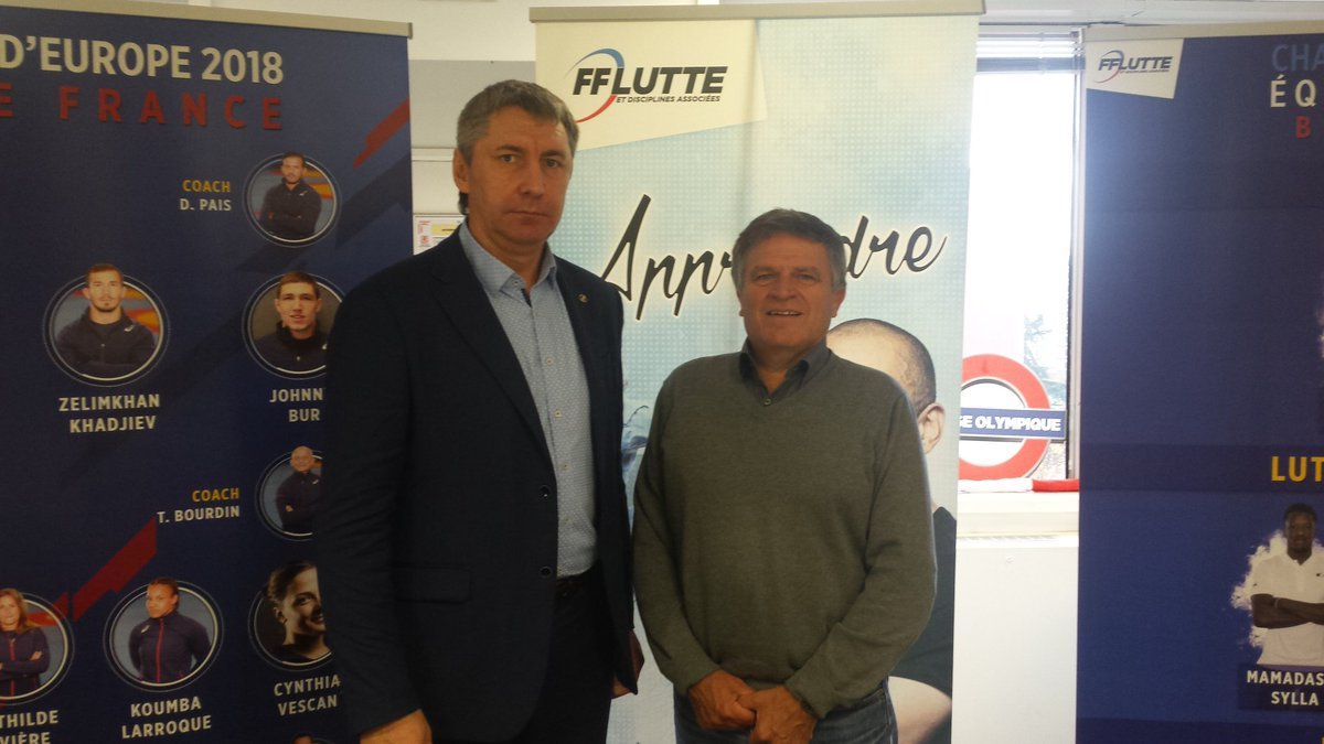 Замечательные встречи в Федерации борьбы Франции: начиная с ее Президента Alain Bertholom, а также французским чемпионом по борьбе #самбо.