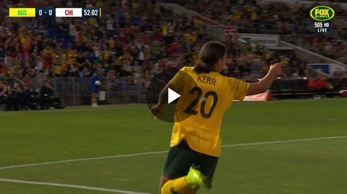 All the goals from our 5-0 win over @LaRoja tonight, Watch here: #GoMatildas #AUSvCHI Photo