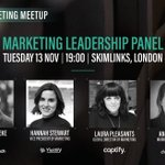 Get some serious creative inspiration at the #TechMarketingMeetup as marketing leaders from @Captify @Yieldify & @channeladvisor discuss their experience of building a team & lessons learnt so far, hosted by @MarkChoueke @RebeltechPR. @LauraPleasants @notanotherviral @AndreaSnagg
