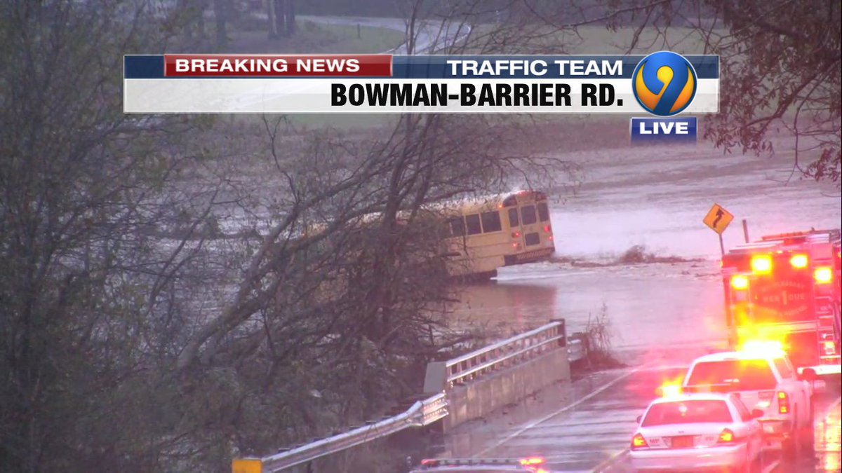 #BREAKING: A look at the school bus that ended up in the water on Bowman-Barrier Rd. near Dutch Buffalo Creek #Cabarrus#MtPleasant #cltraffic #clttraffic #clt<br>http://pic.twitter.com/n0Qk54CDNg