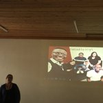 Image for the Tweet beginning: Eleonora Munaretto presenting on her