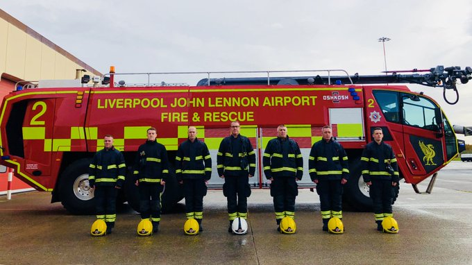 On Sunday, Acts of Remembrance were marked around LJLA including this poignant moment from Green Watch who stood as one to remember. #LestWeForget Photo