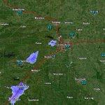 Image for the Tweet beginning: Arkansas radar and temps at