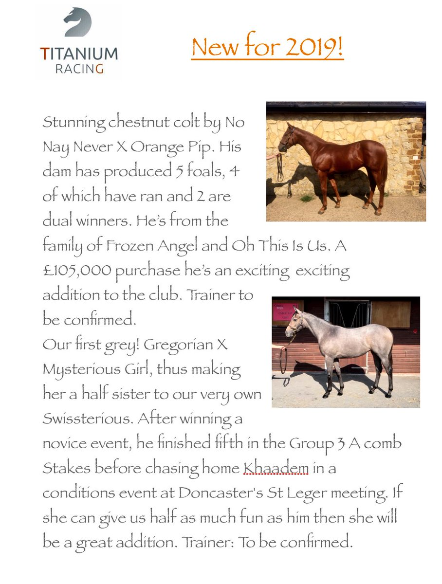 Our 4 yearlings are doing well in their pre training with @ACBreakingPreT and we're very much looking forward to following their journeys onto the racecourse. If you'd like to find out more about our available packages DM for details. 🏇🏽🏇🏽