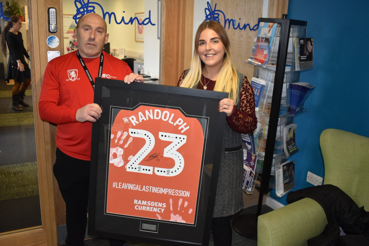 Our next port of call was @MboroStcktnMind where @RandzOfficial is #LeavingALastingImpression on #WorldKindnessDay with this special shirt ❤️ #UTB