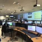 Image for the Tweet beginning: Control room of the @ATLASexperiment