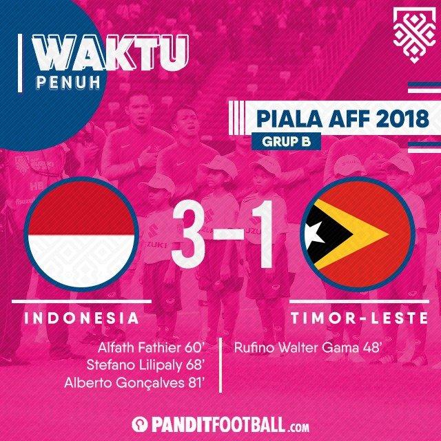 Kemenangan perdana Bima Sakti di #AFFSuzukiCup18 . Laga berikutnya Indonesia akan menghadapi Thailand pada hari Sabtu, 17 November 2018 di Rajamangala Stadium #GarudaBisa Photo