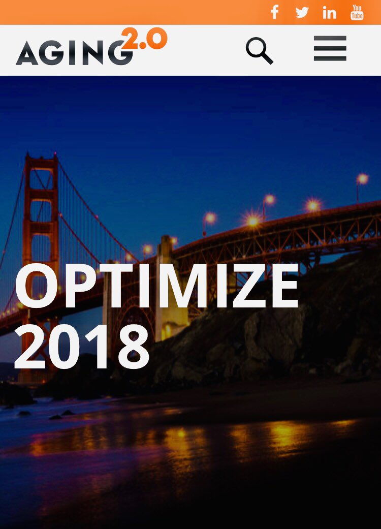 Off to the #WestCoast . Ready for Aging2.0 #OPTIMIZE2018 - Intersection of #Innovation and #Aging #SanFrancisco #SFO @Aging2DC