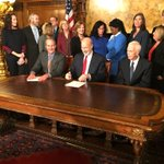 Image for the Tweet beginning: The signing of SB 554