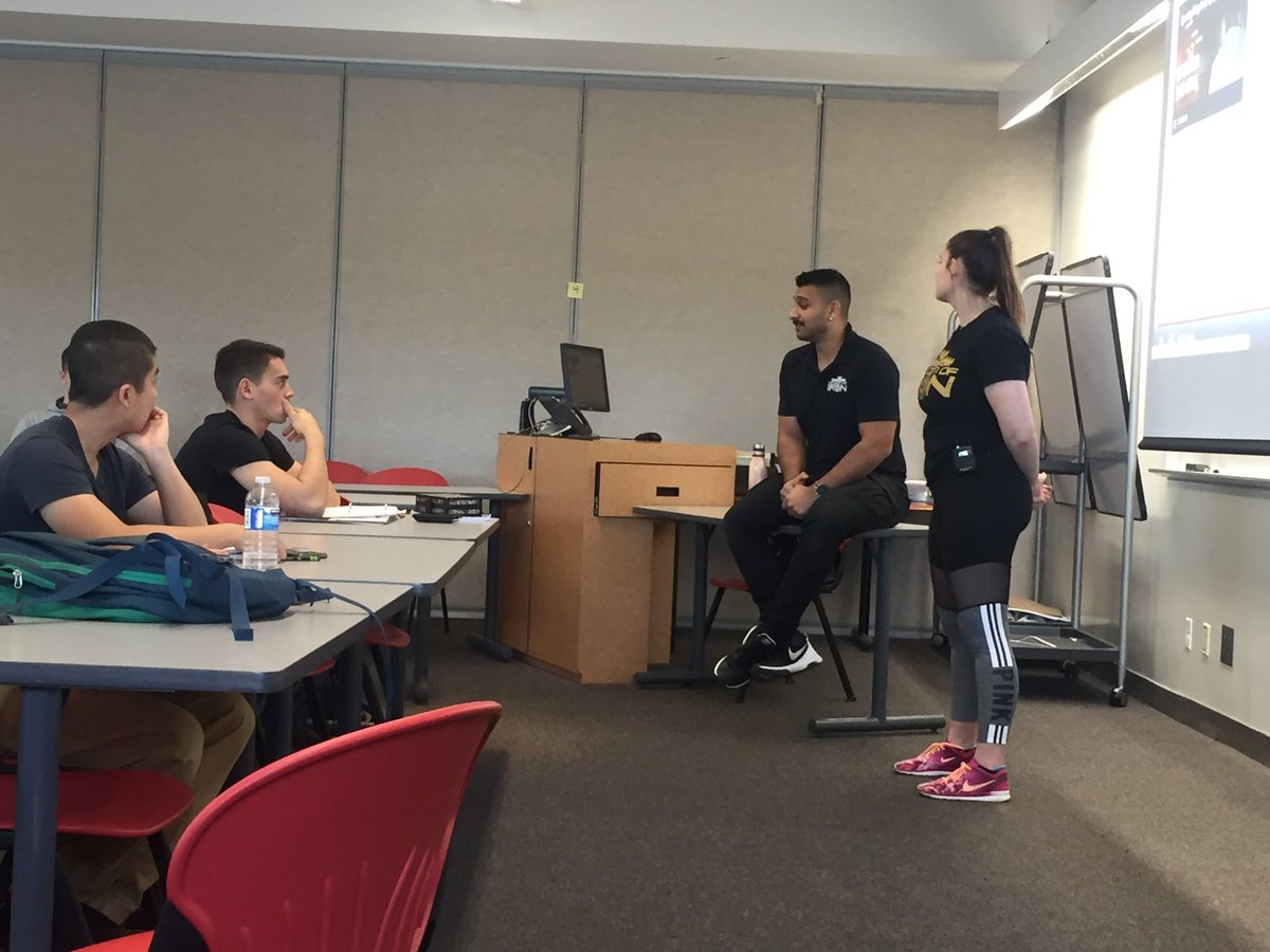 FHP grads Madison and Ryan, owners of Kingdom of Iron in Bolton, ON sharing their story to current students! @HumberHRT<br>http://pic.twitter.com/lmsB0y3yZv