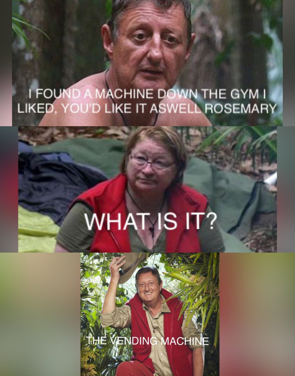 One of the best #ImACeleb moments when Eric Bristow gave zero fucks 😂