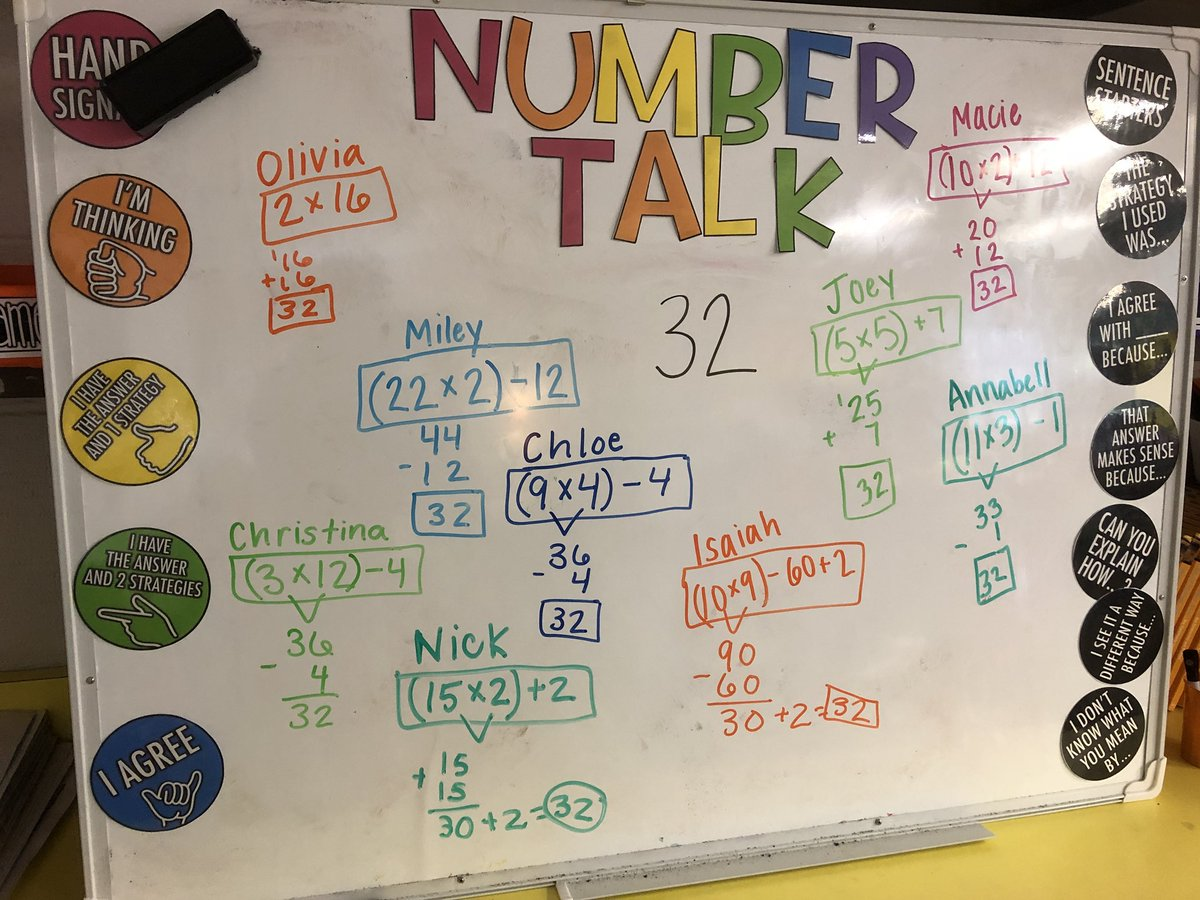 Just sharing our daily #NumberTalk 😊  @CloughPikeElem