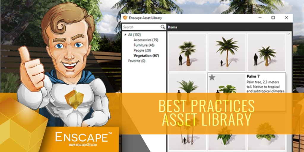 With the Asset Library, placing 3D models has never been
