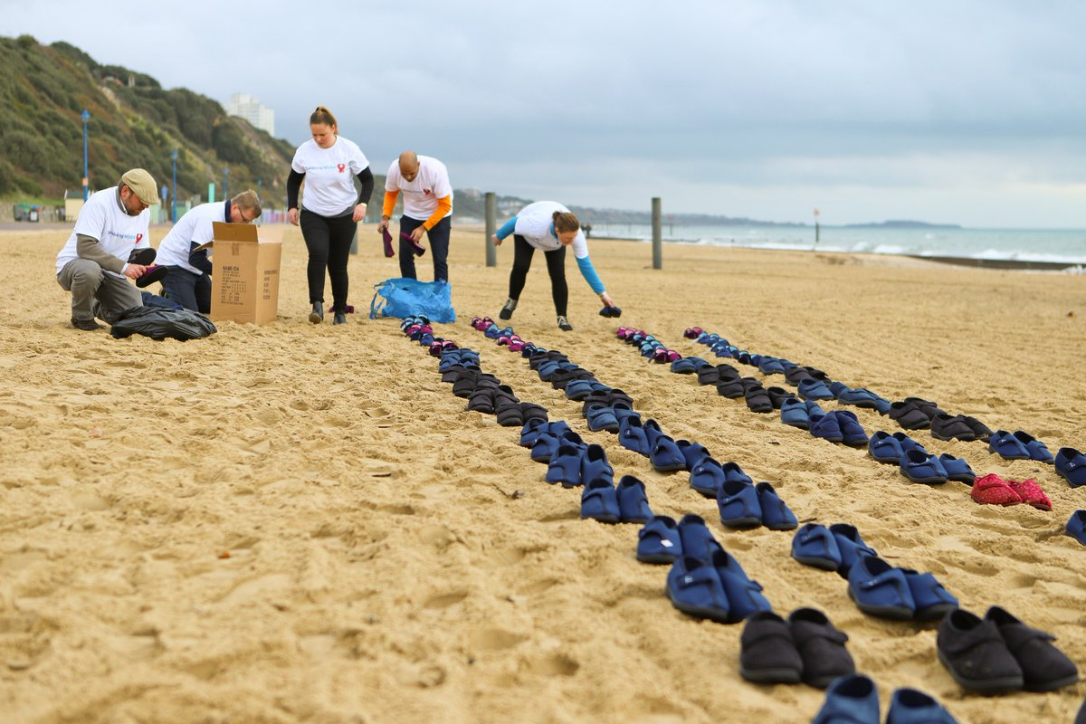 test Twitter Media - Thank you @DorchLitFest for supporting our #SurvivingWinterAppeal which we launched last week by laying down 520 pairs of slippers on Bournemouth Beach representing the number of local people who die needlessly. Your kindness will make a huge difference #WorldKindnessDay https://t.co/0aYpW2Vn6u