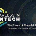 Image for the Tweet beginning: The program for #FearlessFintech is