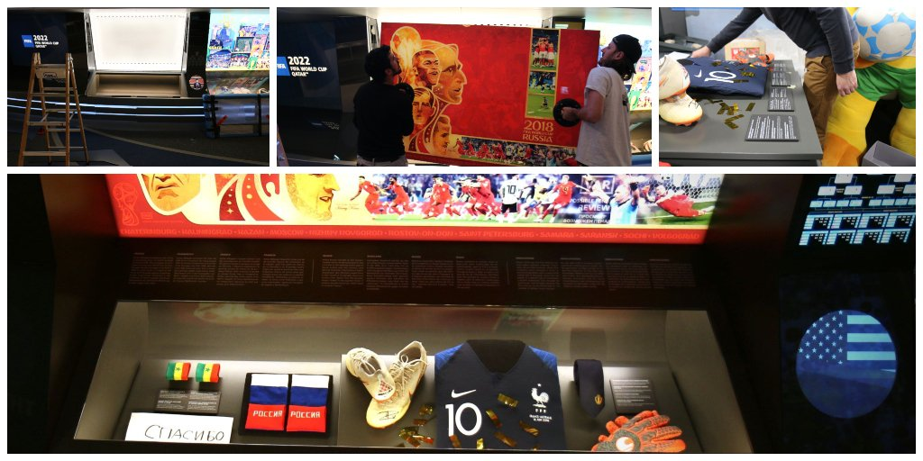 The 2018 @FIFAWorldCup has officially taken its place in history - at the FIFA Museum ⚽️🙌 Do you recognise any of the objects from our brand new 2018 showcase? 👀