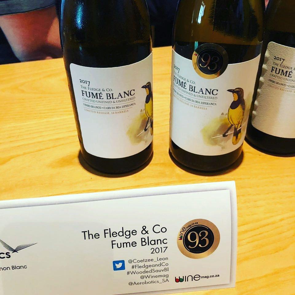 #TheFledge & Co Fume Blanc 2017 Best #woodedSauvBl @winemag with 93 points. @Coetzee_Leon #SauvSemReport #Sauvignonblanc #greatwine #bokmakierie