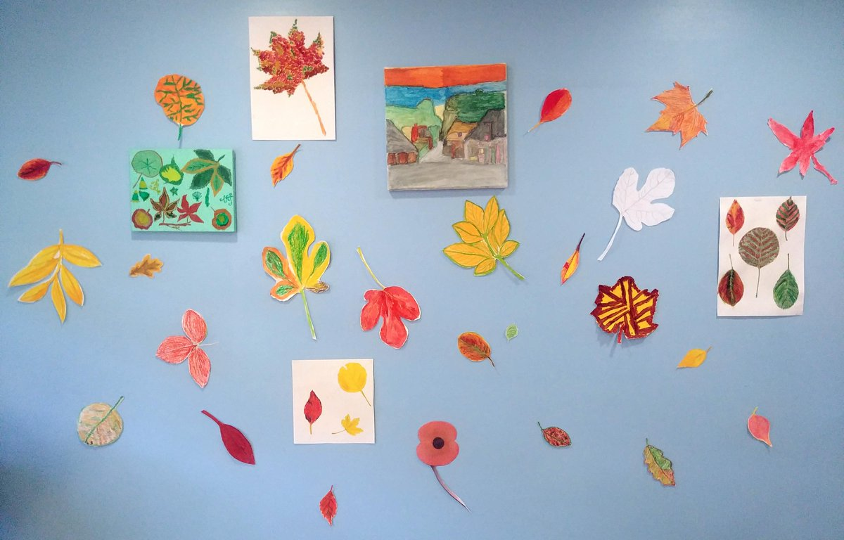 Our arts and crafts teacher Bronwyn worked with patients to create this Autumn leaves wall on the day hospice. Each leaf says something about its creator and together they form a beautiful tribute to the season.