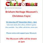 Image for the Tweet beginning: Old fashioned Christmas Fayre @@BrixhamMuseum