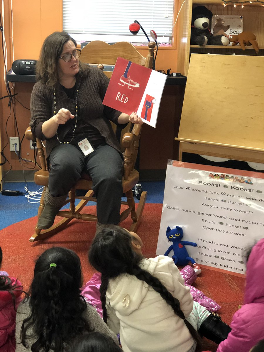 Dobie Pre K Center On Twitter Pete The Cat Is Visiting Our Library