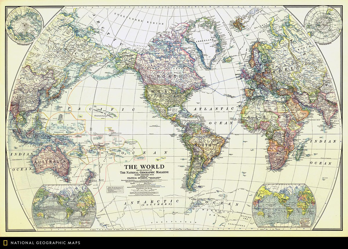 National Geographic World Political Map.Natgeomaps On Twitter Map Of The Day National Geographic S First