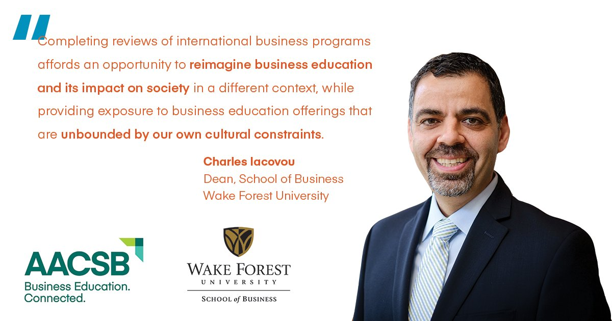 AACSB Accreditation is a symbol of global quality and innovation. @WakeForestBiz @charlesiacovou #IEW2018 https://t.co/dUYCLSZ1ZE