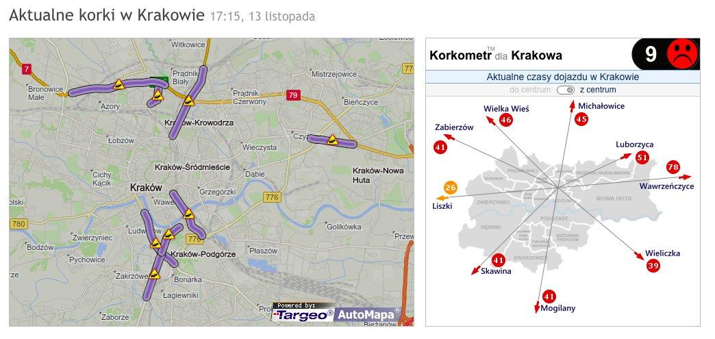 Automapa On Twitter Krakow Aktualna Mapa Korkow