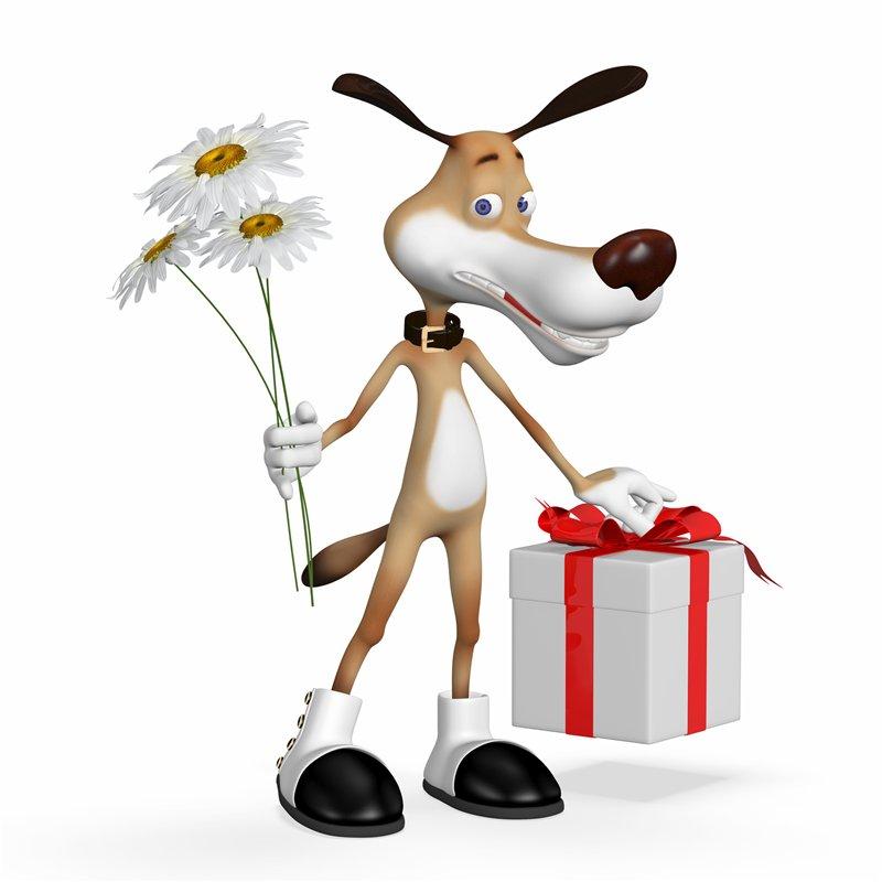 Подарки и к ним смешные рисунки