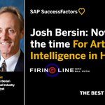 """We're in a typhoon of incredible force sucking more and more energy into the HR tech market,"" says top thought-leader @Josh_Bersin. Find out what it means to you on Firing Line with @BillKutik: https://t.co/KxD8F9fJPL"