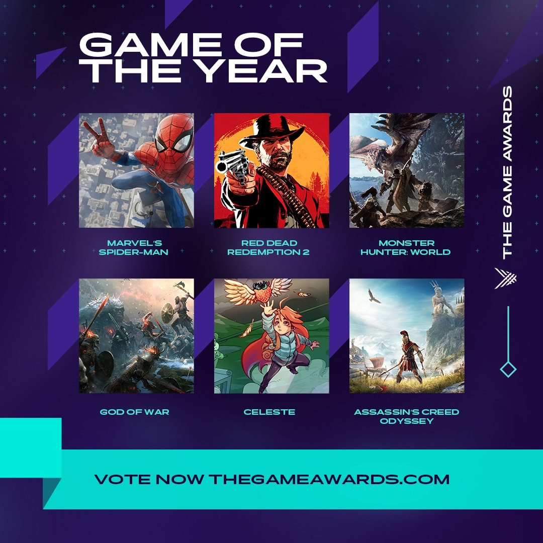 The Game Awards 2018 - Vote Now thegameawards.com