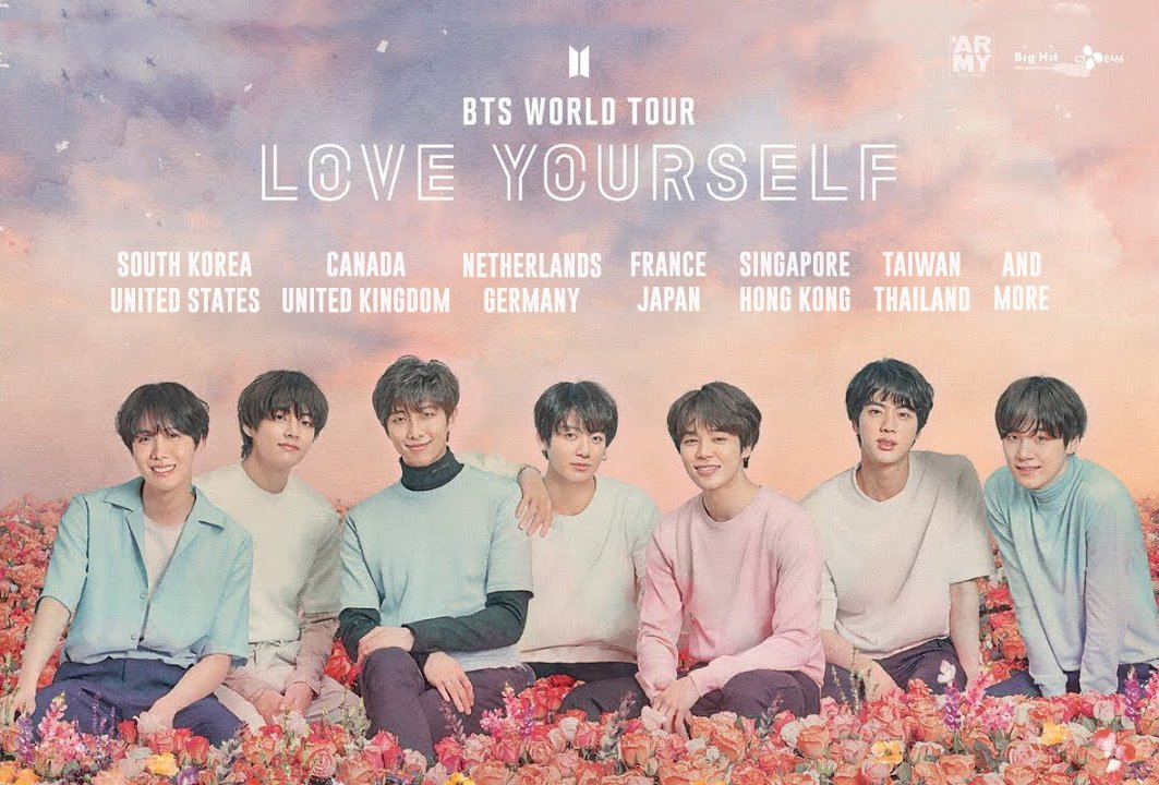 [#BTSLoveYourselfTour  THREAD]  Find here all the dates, locations, capacity for each concert.   #BTS  #방탄소년단 #LOVE_YOURSELF <br>http://pic.twitter.com/NZWIZb3ZMU