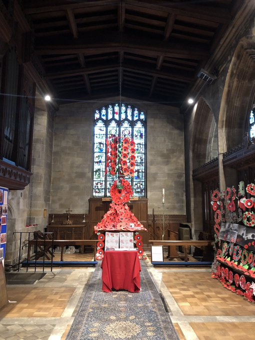 Immensely proud of all the children during our visit to the church. All walked sensibly and were very respectful whilst in the church, asking thoughtful questions. Well done to the whole Driffield community who have come together to produce such a fabulous tribute. #lestweforget Photo