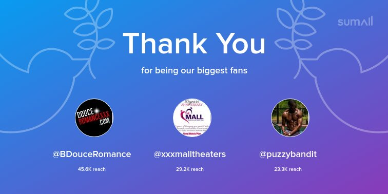 test Twitter Media - Our biggest fans this week: @BDouceRomance, @xxxmalltheaters, @puzzybandit. Thank you! via https://t.co/SPozDQpAuj https://t.co/CoUsaVBMiV