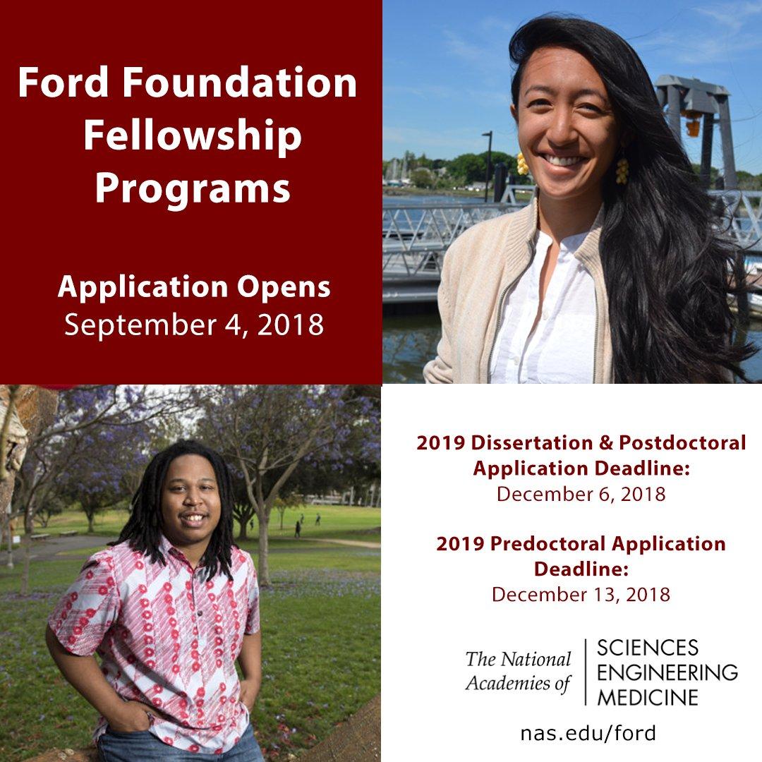 ford dissertation fellowship notification 2019