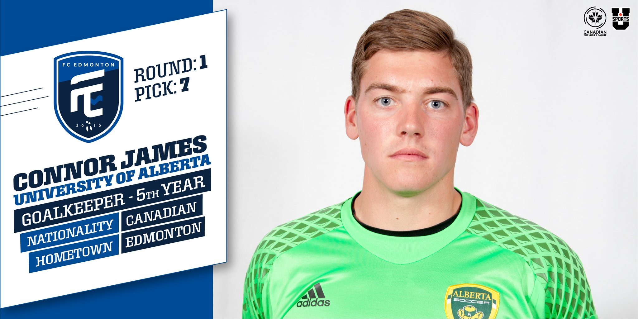 "FC Edmonton on Twitter: ""With the 7th selection of the CPL-U ..."