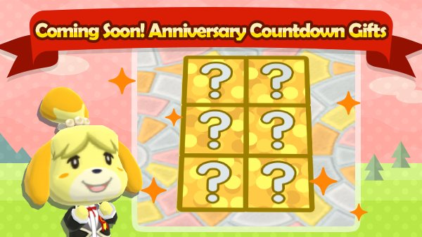 Hey there, camper! Have you heard? The campsite&#39;s first anniversary is right around the corner! Starting November 15th at 10pm PT, you can collect first-anniversary tiles. Collect all six, and something special will happen! Shh…no spoilers!<br>http://pic.twitter.com/HpBc3Js2hR